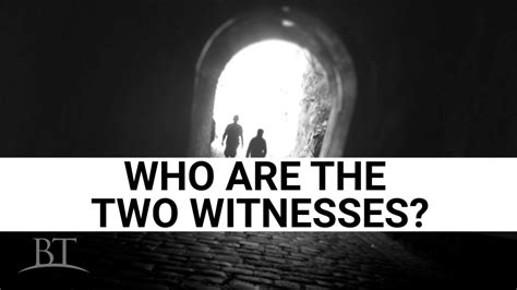 Who Are The Who Are The Two Witnesses United Church Of God