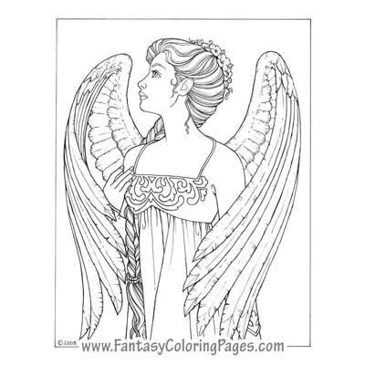 coloring pages of angels for adults fantasy coloring pages the best coloring pages