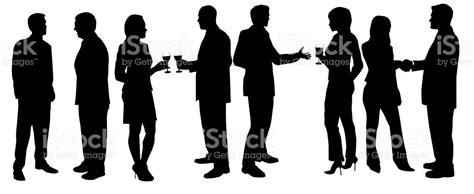 cocktail party silhouette cocktail party silhouettes stock photo more pictures of