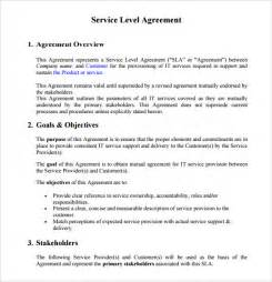 Service Delivery Agreement Template sample service level agreement 8 example format