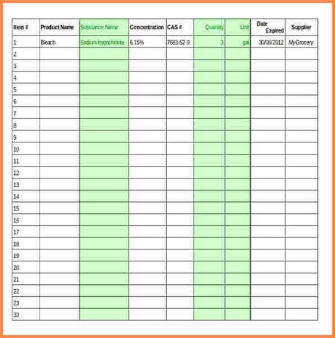 5 supply inventory spreadsheet template excel