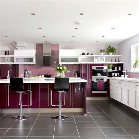 houses purple modern interior designs kitchen