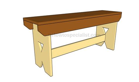 bench drawings how to build a simple bench howtospecialist how to