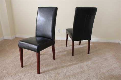 Leather Parsons Dining Room Chairs Black Leather Parsons Dining Chair Contemporary Dining Chairs Other Metro By And