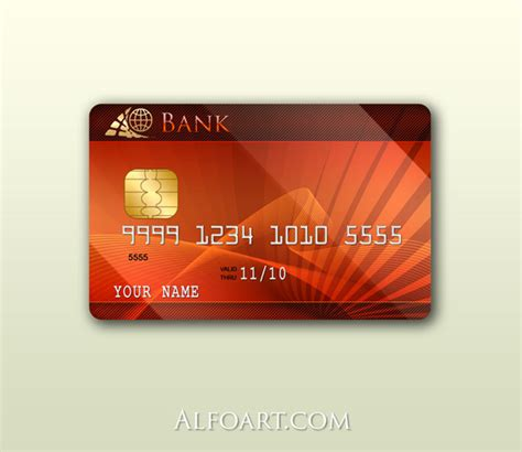 visa card design template process of a platinum credit card using photoshop