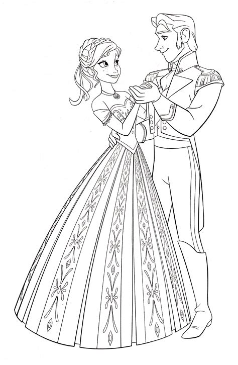 coloring pages games frozen walt disney coloring pages princess anna prince hans walt