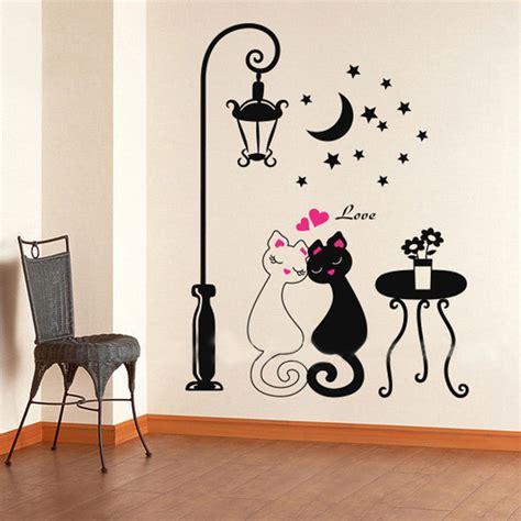 newlywed home decor aliexpress com buy 2018 cut black couple cat wall