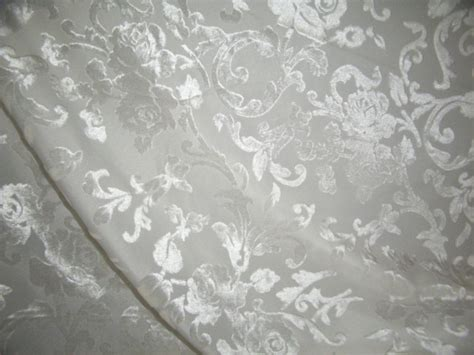 polyester viscose burnout white velvet fabric 44