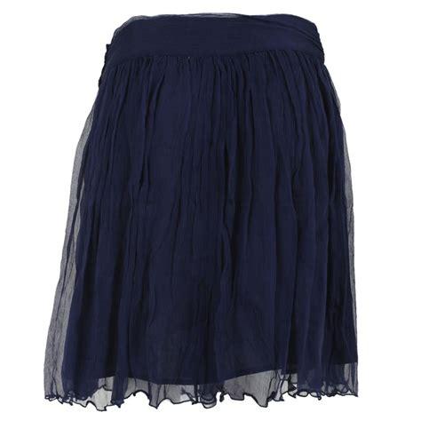 womens navy blue kookai chiffon layered formal evening