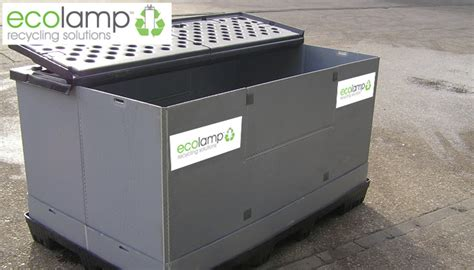 Light Storage by Used Pallet Box L Recycling Compact Halogen