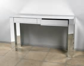 Silver mirrored console table 2 drawer