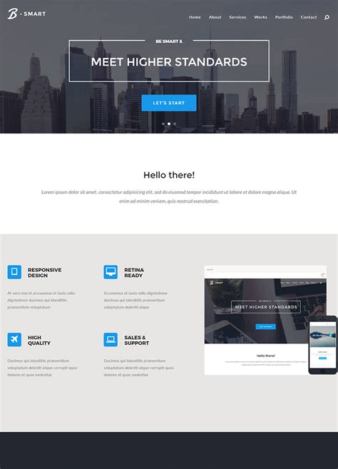 html5 templates premium b smart multi purpose html5 template buy premium b smart