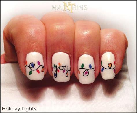holiday lights nail decals christmas light nail art nail