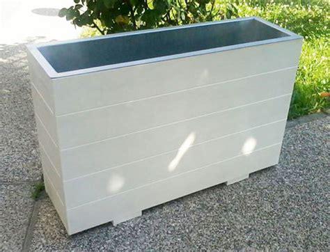 fioriere in alluminio per esterni fioriere in legno e metallo da esterno