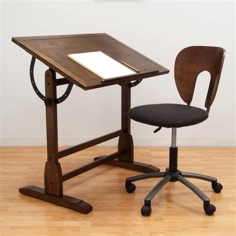drafting table chairs studio designs 42 in rustic oak vintage drafting table