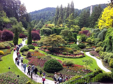Butchard Gardens by Enjoying The Butchart Gardens And High Tea At The Empress