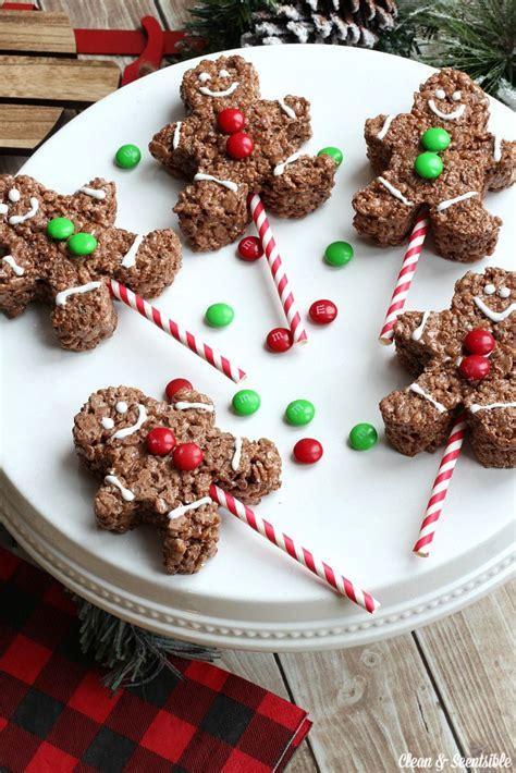 christmas recipes gingerbread men rice krispies