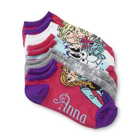 elsa sock snowman disney s 5 pairs no show socks frozen