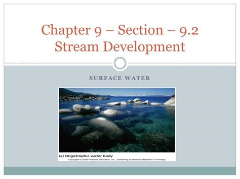 chapter 9 section 2 ppt chapter 9 section 9 2 stream development