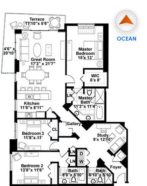 10 grand avenue floor unit three 3 bedroom condo floor plans search home