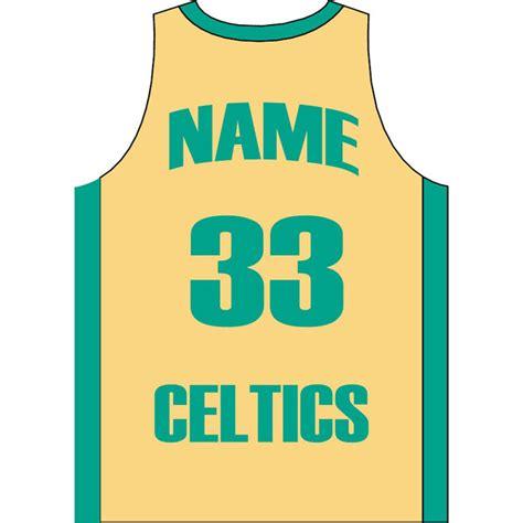 desain jersey basket vektor basketball jersey celtics vector image download at