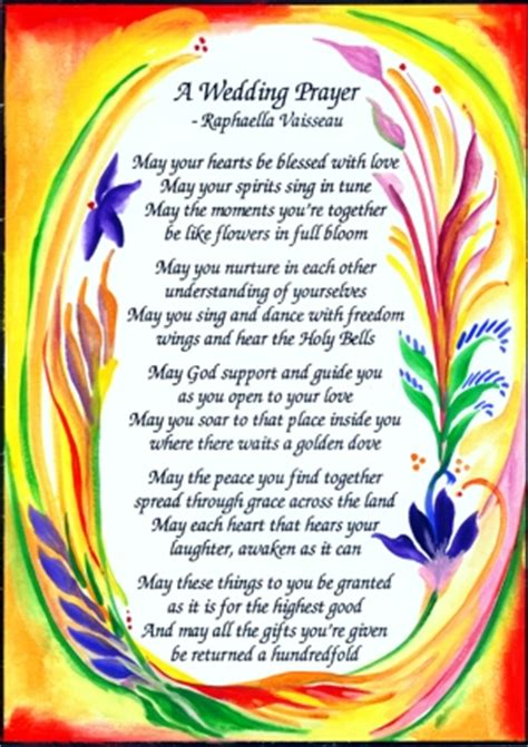 Wedding Blessing Poems Prayers by Heartful By Raphaella Vaisseau For Wedding Blessings