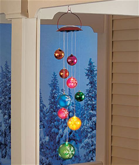 lighted solar holiday christmas ball mobile outdoor