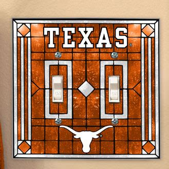 texas longhorn bedroom decor texas longhorns ncaa college art glass double light switch