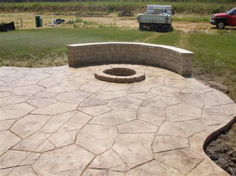 Poured Concrete Patio Designs Poured Concrete Patio