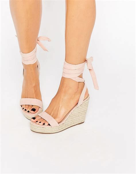 wedges sandals asos tie leg wedge sandals trends i