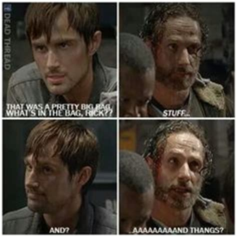 Stuff And Things Meme - rick grimes stuff n thangs on pinterest the walking dead