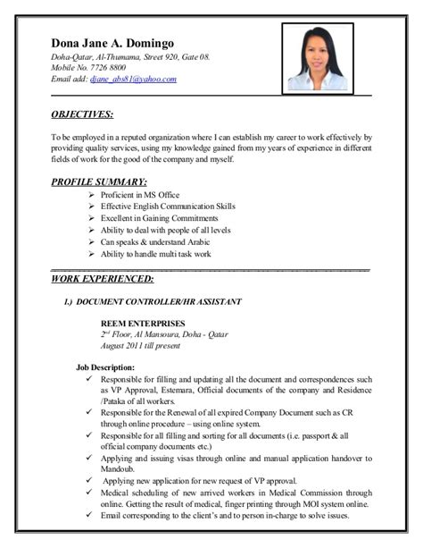 Resume Sample Format For Ojt by Dona Jane Abatayo Cv New