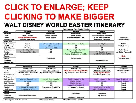 disney world itinerary template pin disney world itinerary template image search results