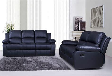 valencia 3 2 bonded leather recliner sofa suite black