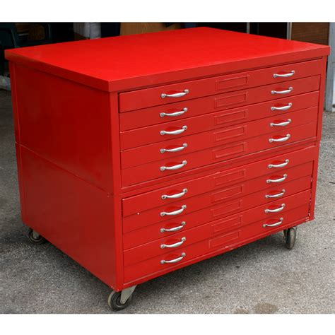 Flat File Cabinet 44 Quot 1 Architectural Drafting Flat File Cabinet Ebay