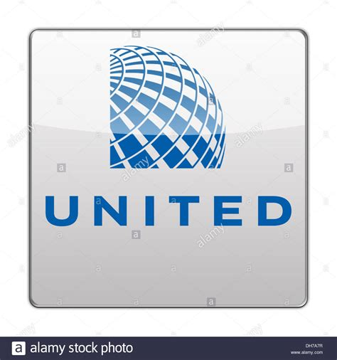 united airline sign in united airlines icon logo flag sign stock photo royalty