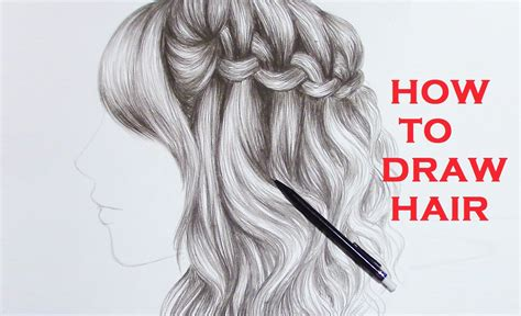 realistic plait hair styles how to draw hair braids www pixshark com images