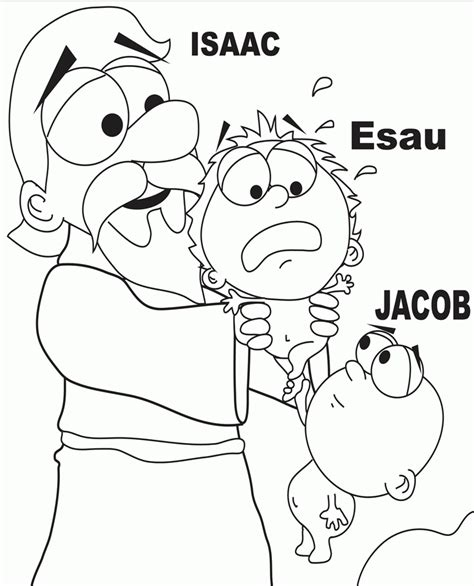free bible coloring pages jacob s ladder jacob and esau coloring page coloring home