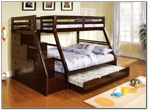 twin full bunk bed with trundle bunk beds twin over full with trundle beds home design ideas 68qaxwedvo5032