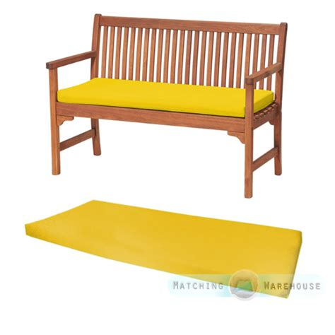 Yellow 2 or 3 Seat Bench Swing Garden Seat Pad Home Floor