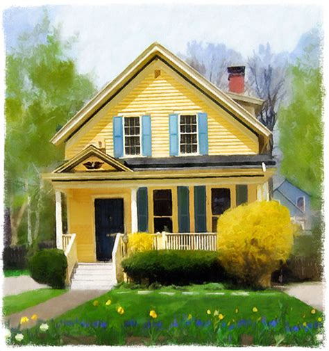 Yellow Home easter parade of homes