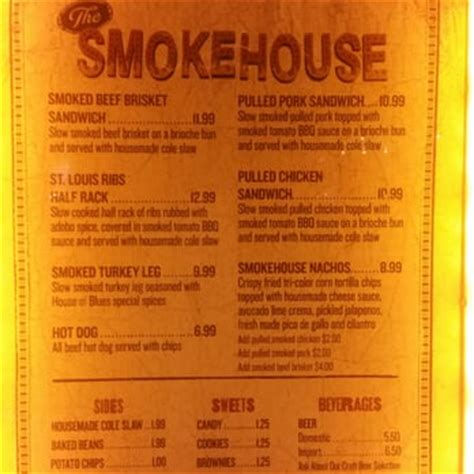 House Of Blues Orlando Menu by Smokehouse At House Of Blues 20 Photos 14 Reviews