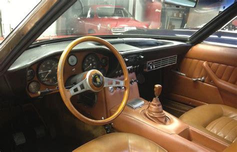 classic lamborghini interior vintage corner lamborghini islero getting its due