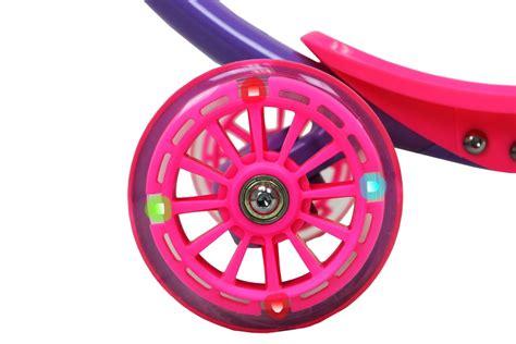 razor scooter light up wheels pink zycom zipster scooter w light up wheels purple pink