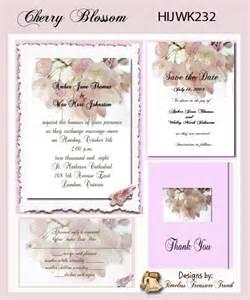 cherry blossom wedding invitations kit delux cherry blossom wedding invitation kit on cd ebay
