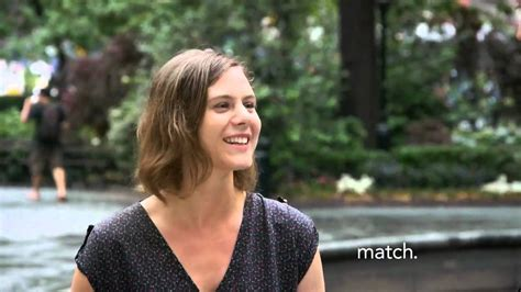 match commercial actress jackie match on the street rachel mom match official