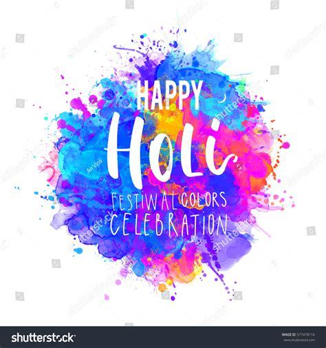 Invitation Letter For Holi Watercolor Happy Holi Dolyatra Celebration Card Stock