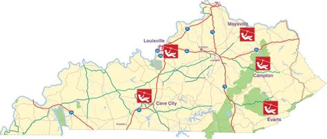 kentucky economic map kentucky launches zipline trail report kentucky
