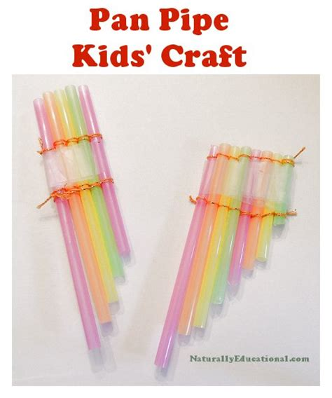 Diy Washi Tape by Straw Pan Pipe Craft For Kids Naturally Educational