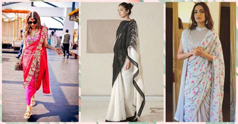 unique saree draping styles 5 exciting new ways of draping your saree popxo